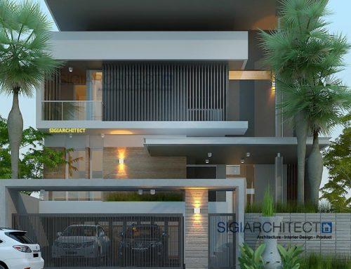 Desain Rumah 2 Lantai Semibasemen