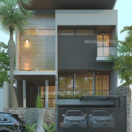 desain kost eksklusif 2 lantai mewah modern minimalis