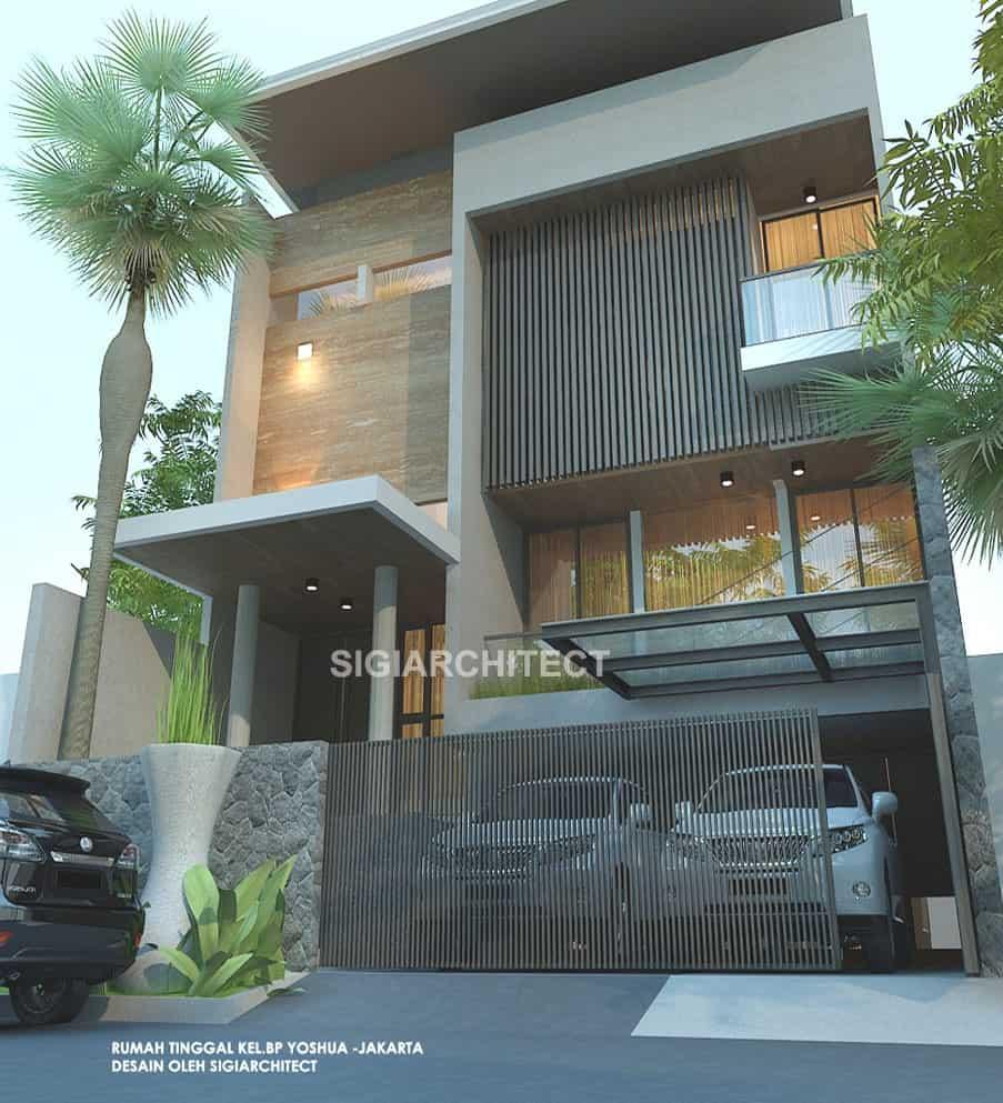 Rumah Minimalis 3 Lantai Fasad Modern Mewah