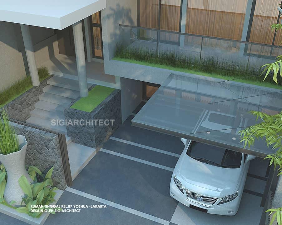 Rumah Minimalis 3 Lantai_Taman