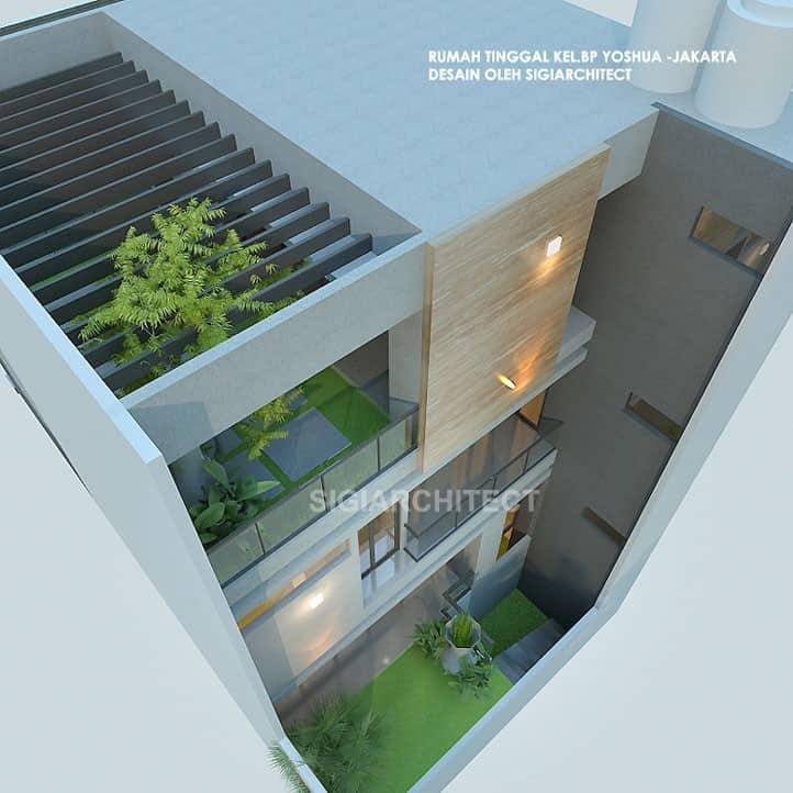 Rumah Minimalis 3 Lantai_roof top