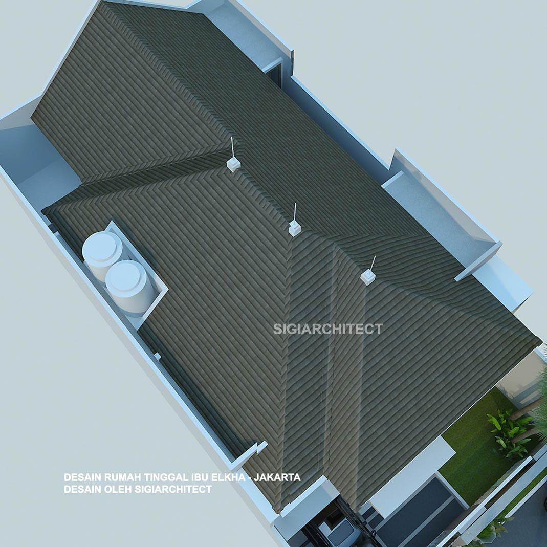 Rumah Tropis 2 Lantai Atap