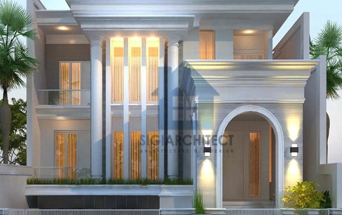 model rumah klasik modern 3 lantai