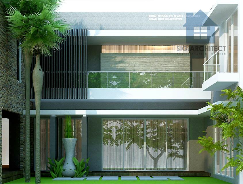 model rumah minimalis 2 lantai modern 2020 taman belakang