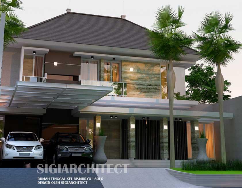Desain rumah hoek modern minimalis type 300-400 M2