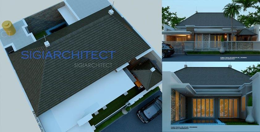 atap desain rumah klasik 1 lantai