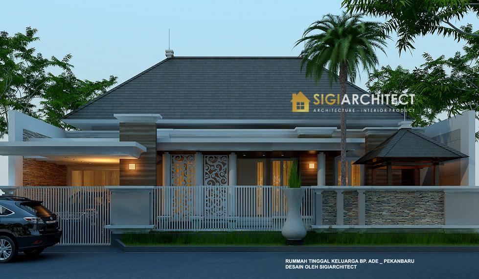 desain arsitek rumah klasik modern 1 lantai