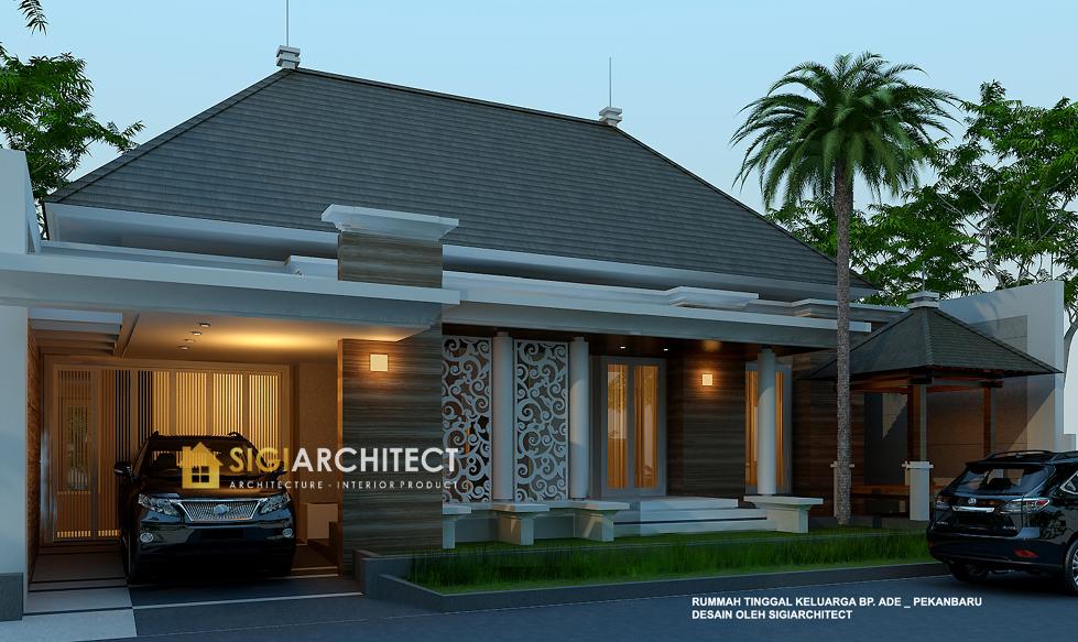 arsitek rumah 1 lantai klasik modern