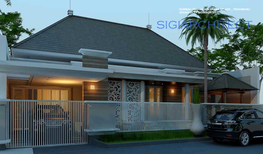 desain pagar rumah klasik modern 1 lantai