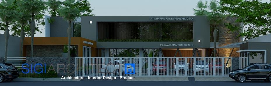jasa arsitek desain kantor 2 lantai modern