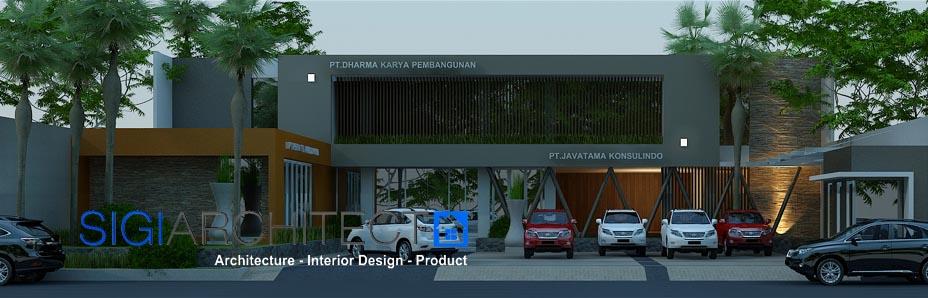 jasa arsitek desain kantor minimalis modern 2 lantai