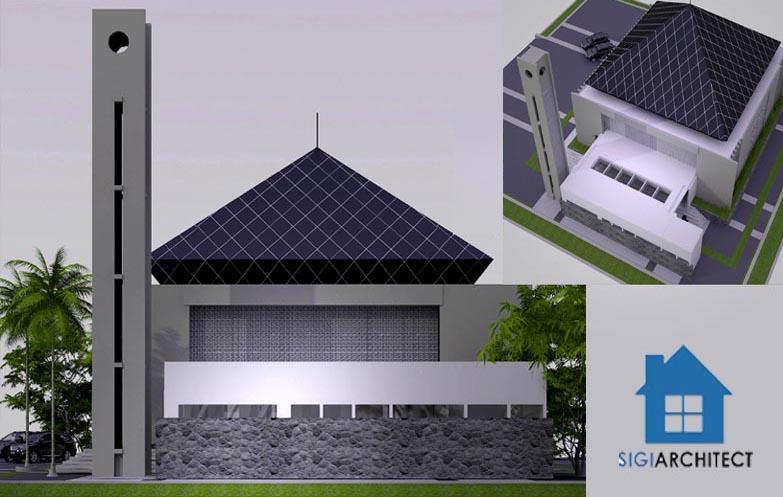 jasa arsitek desain masjid modern