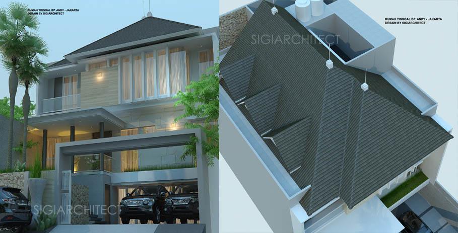 desain rumah 3 lantai jasa arsitek desain rumah BapakAHT3