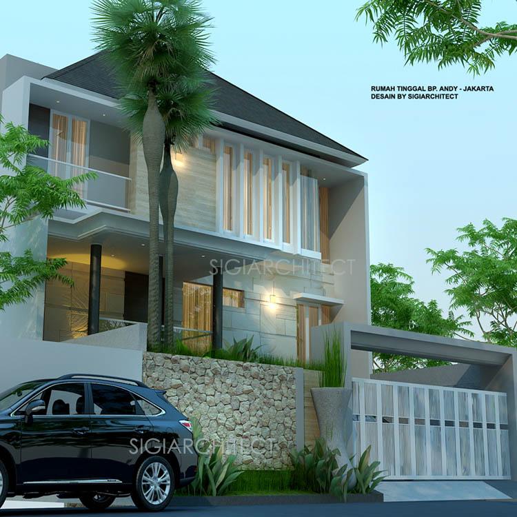 desain rumah 3 lantai jasa arsitek rumah BapakAHT3