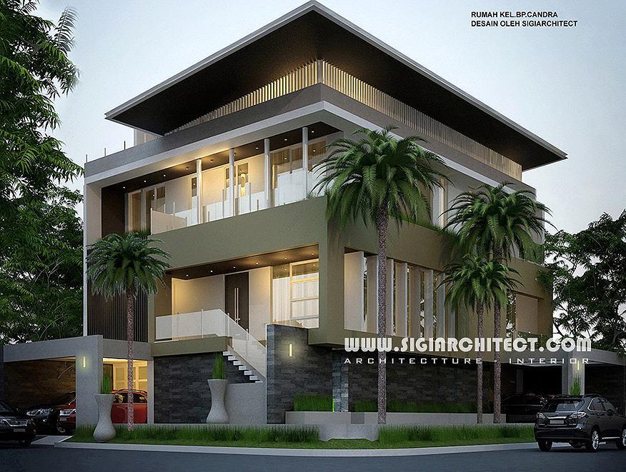 jasa arsitek rumah 3 lantai modern minimalis