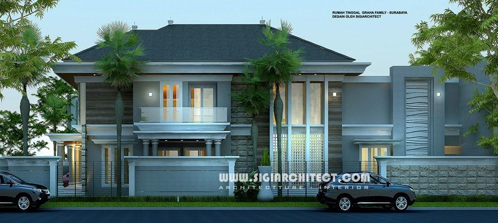jasa arsitek desain rumah graha family surabaya 2
