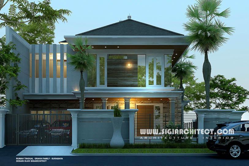 jasa arsitek desain rumah graha family surabaya 5