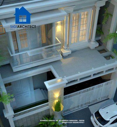 jasa arsitek desain rumah klasik 2 lantai type 250