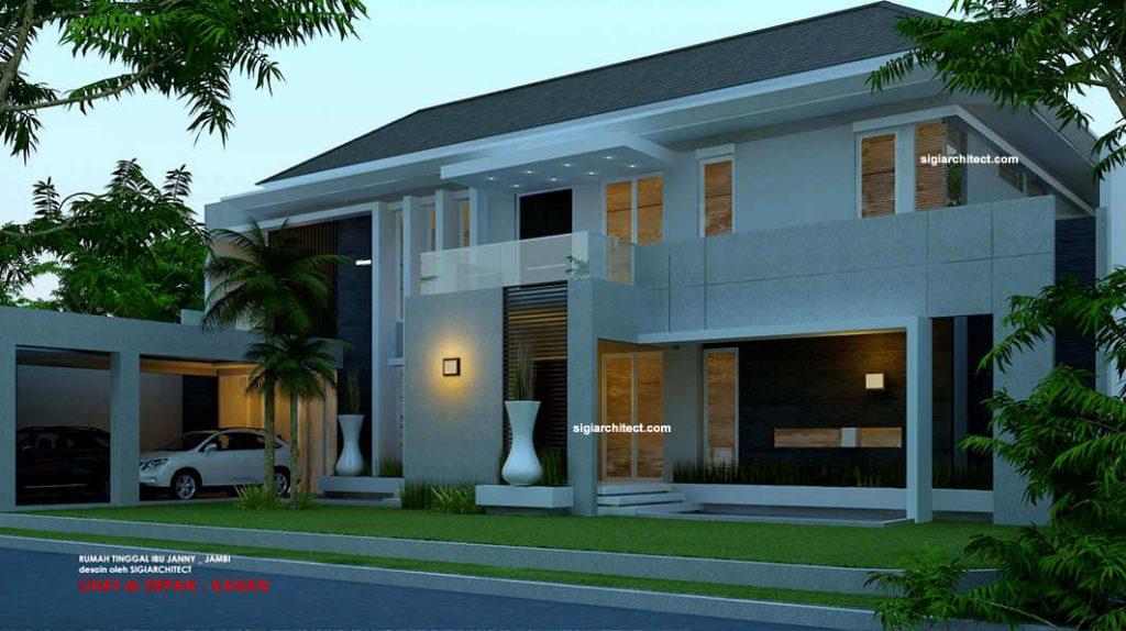 jasa arsitek model rumah fengshui 2 lantai kavling hook