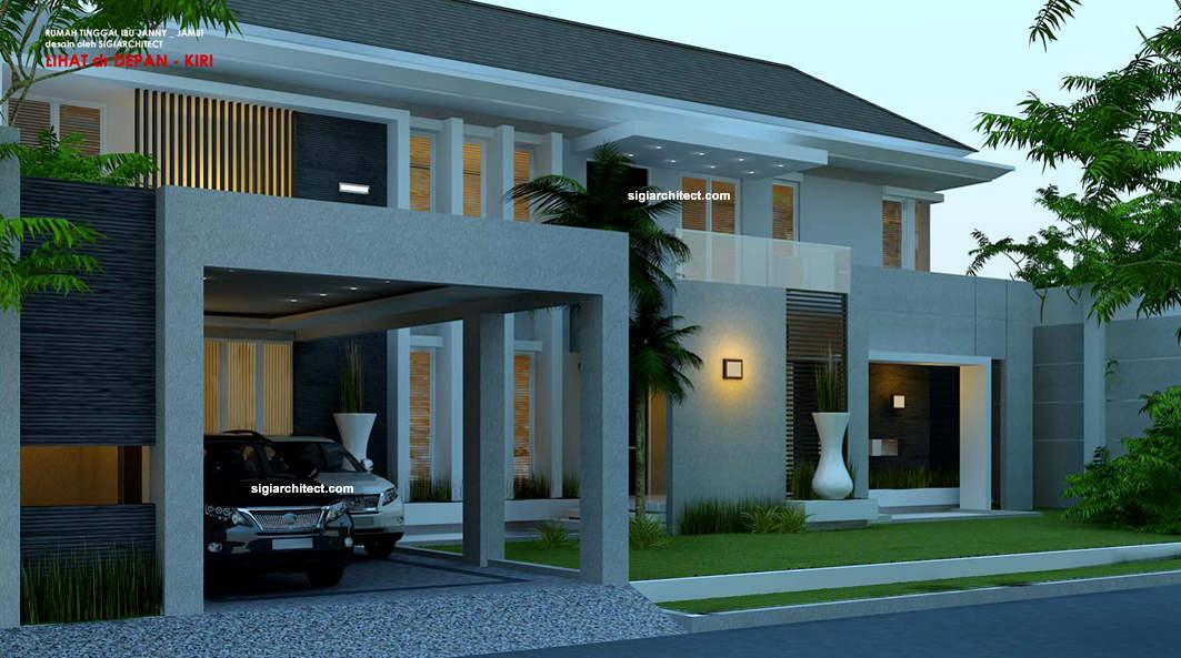 arsitek model rumah fengshui hook 2 lantai