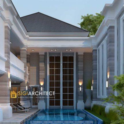 desain rumah mewah 2 lantai   modern tropis minimalis