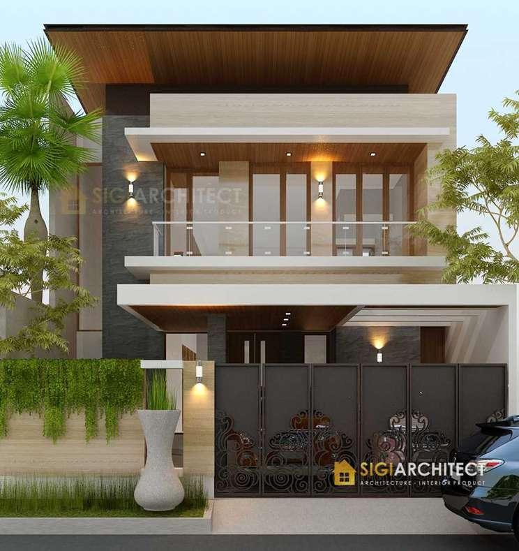 model rumah 2 lantai modern minimalis Bp Hendri