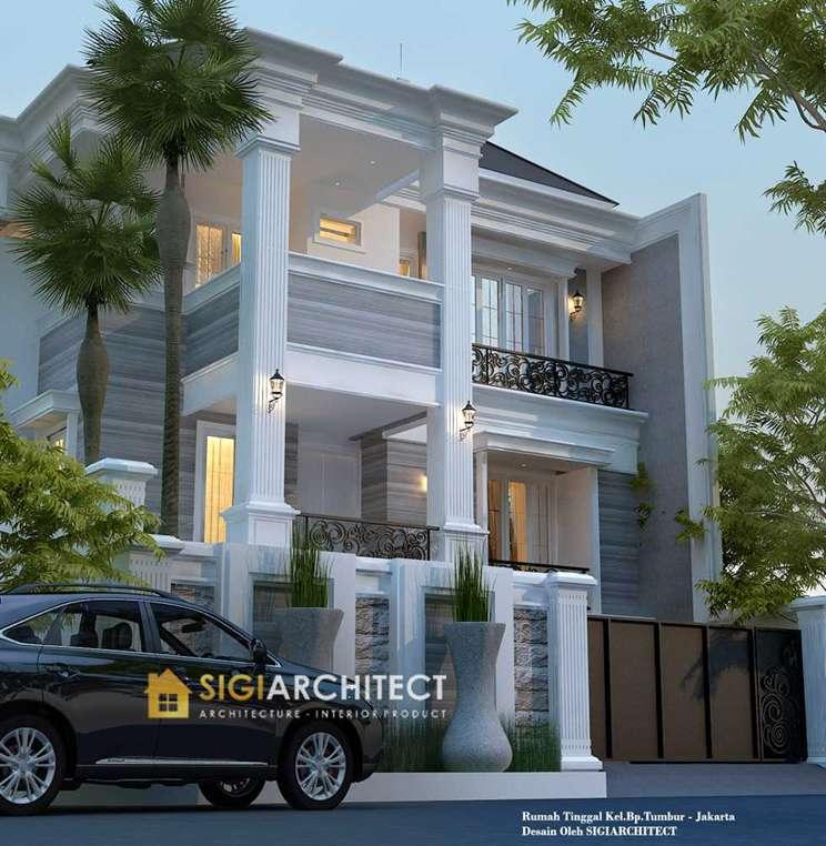 jasa arsitek jakarta model rumah 3 lantai kllasik modern