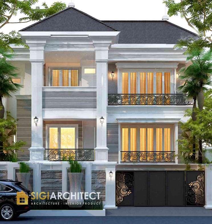 arsitek rumah klasik 3 lantai semibasemen