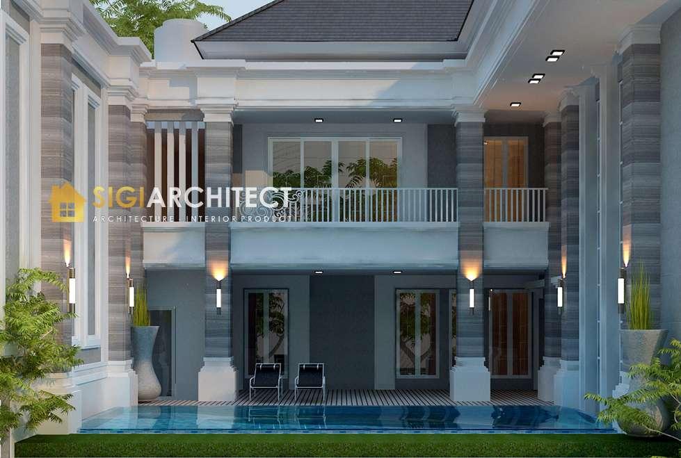 model rumah 2 lantai klasik kolam renang