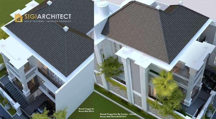 desain atap rumah klasik3 lantai semibasemen