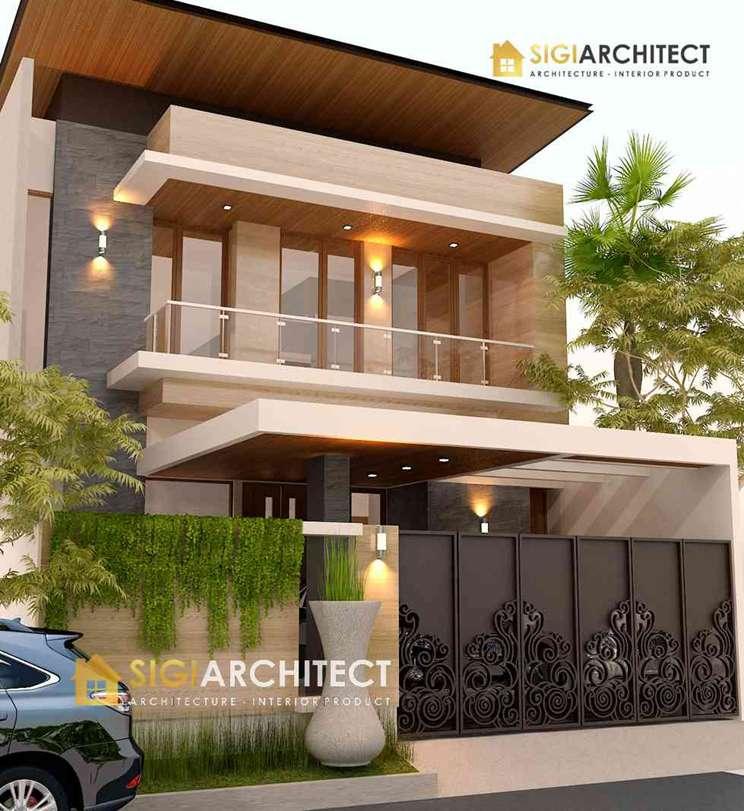 Desain Rumah Modern Minimalis 2 Lantai Type 350