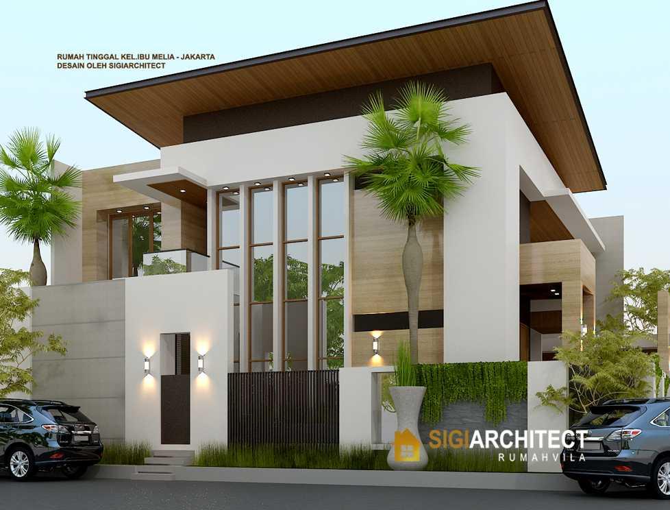 Desain Rumah Hook Minimalis Pojok Modern 400 M2
