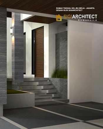 Desain teras rumah hook minimalis modern