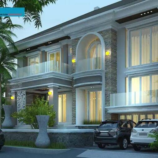 jasa arsitek desain rumah klasik modern semibasemen sigiarchitect