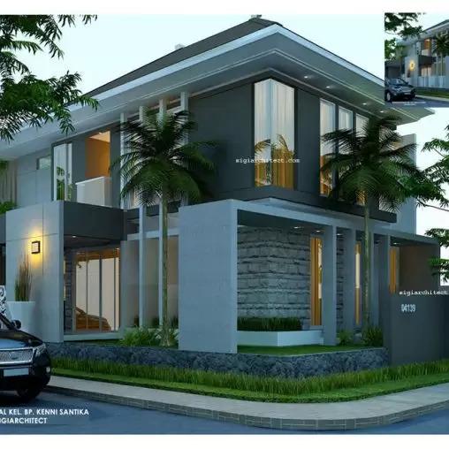 jasa arsitek desain rumah minimalis 2 lantai sigiarchitect
