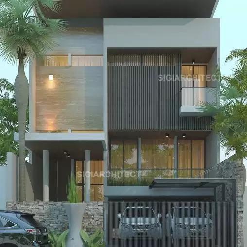 jasa arsitek desain rumah minimalis 3 lantai sigiarchitect