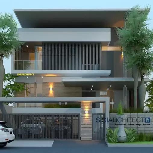 jasa arsitek desain rumah modern minimalis semibasemen sigiarchitect