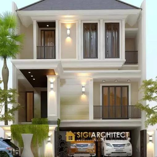 jasa arsitek desain rumah tropis modern semibasemen semiklasik sigiarchitect