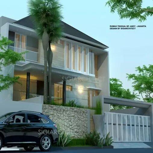 jasa arsitek desain rumah tropis semibasemen sigiarchitect