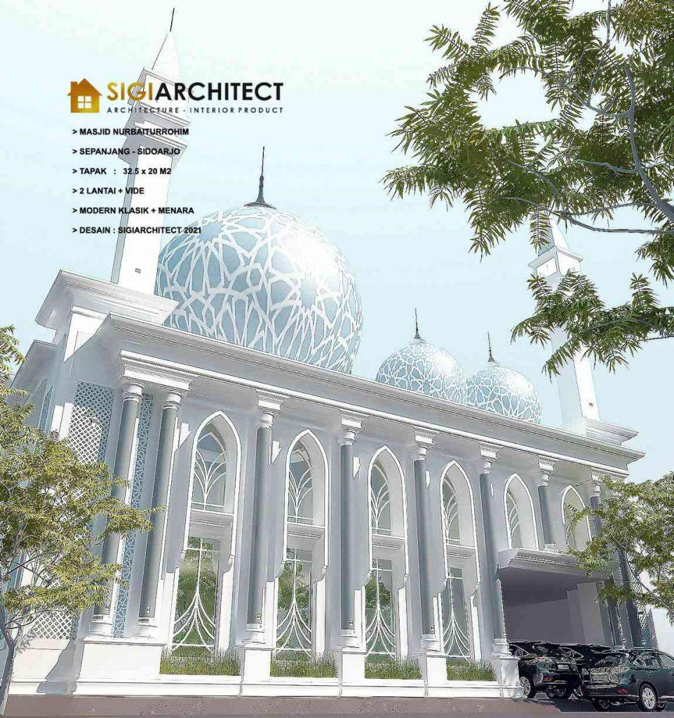desain masjid 2 lantai klasik
