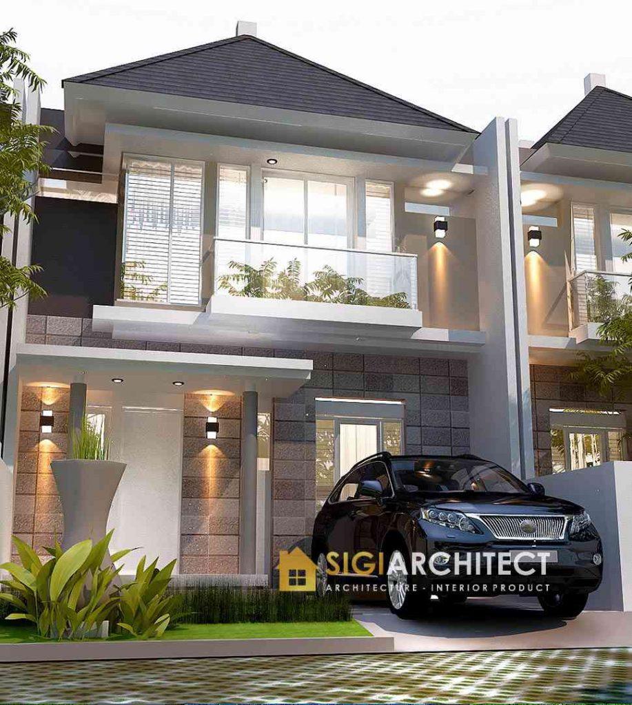desain rumah tipe 90 - 100 minimalis 2 lantai