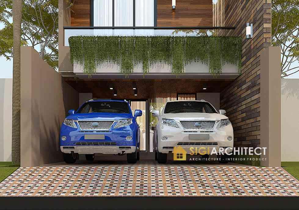Desain rumah kecil 200 m2 3 lantai retro minimalis modern