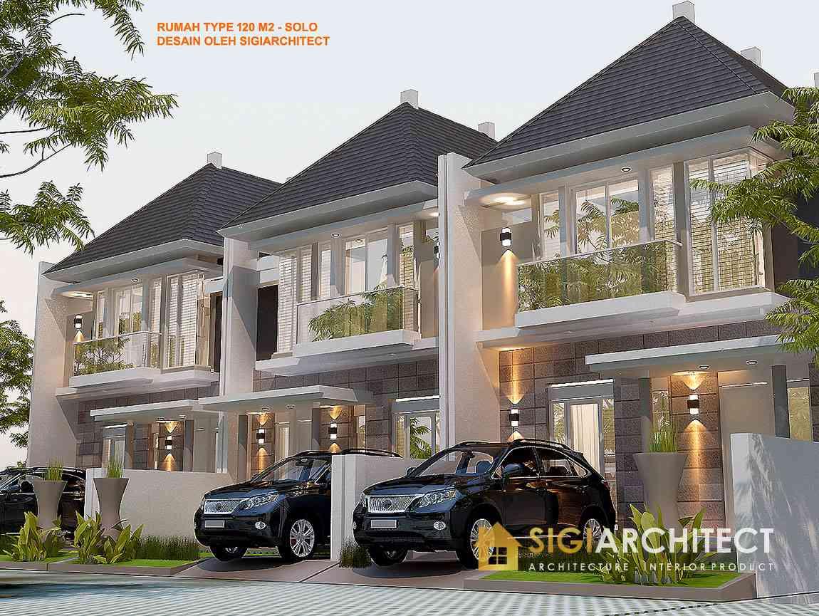 desain perumahan 2 lantai tipe 90 - 100 tropis minimalis