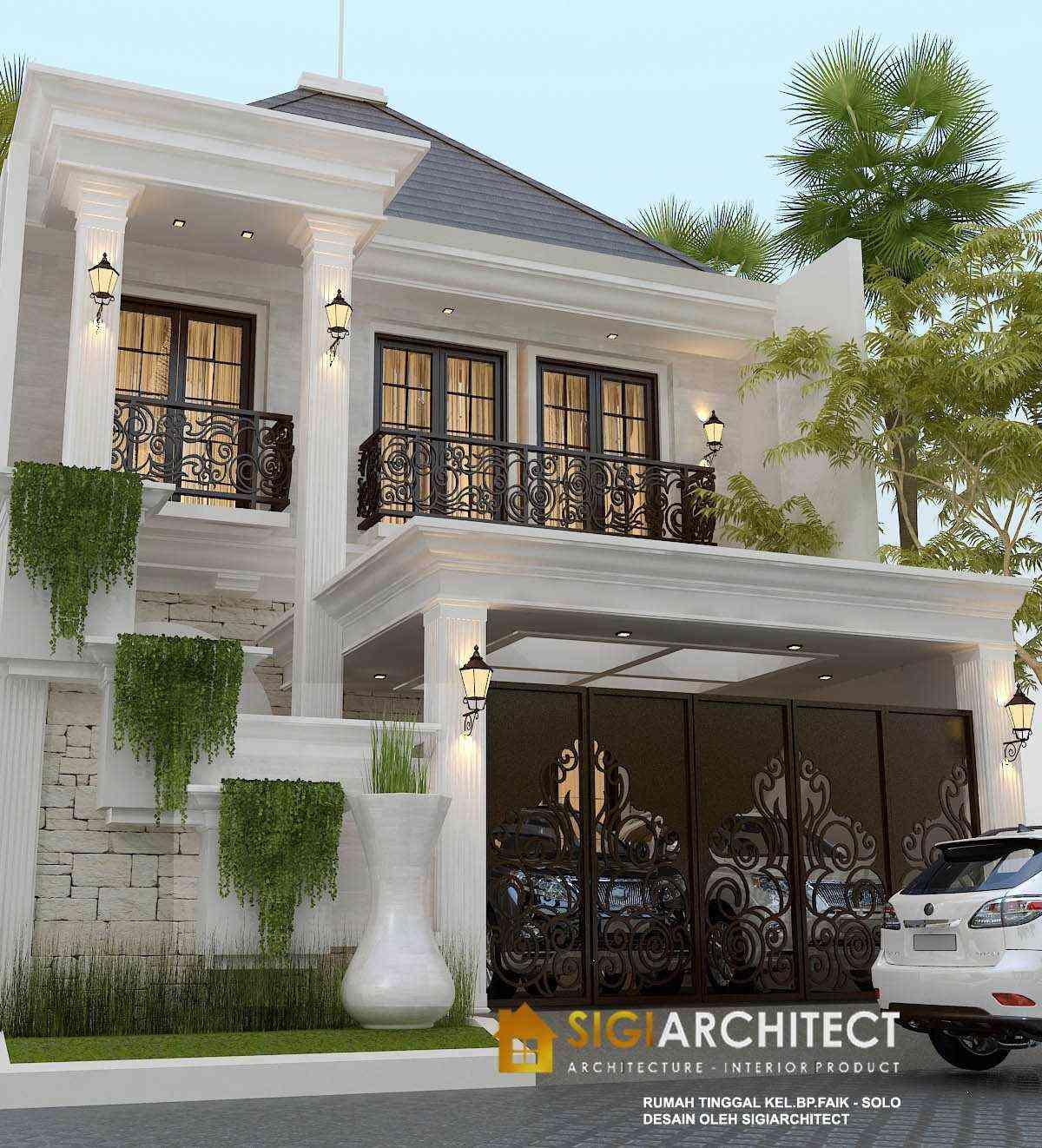 desain rumah mewah klasik 2 lantai