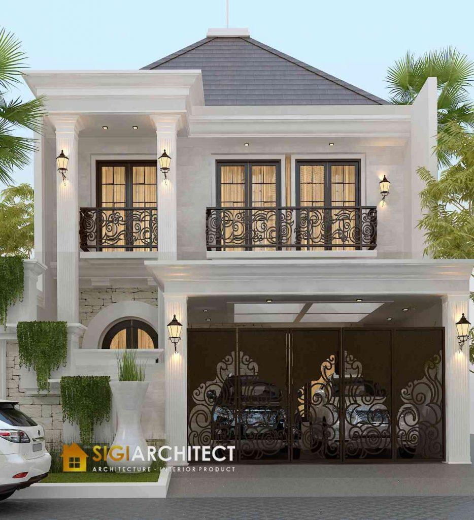 desain rumah mewah klasik 200 m2