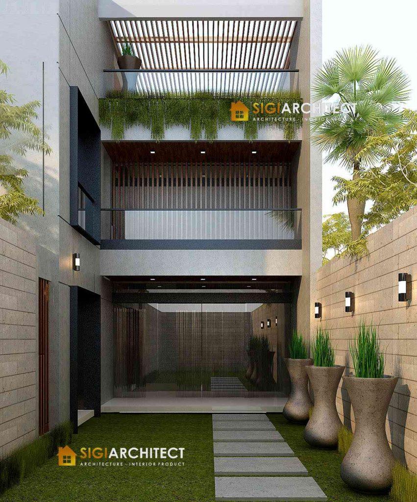 MODERN HOUSE DESIGN ROOF TOP RUMAH MINIMALIS 500 M2