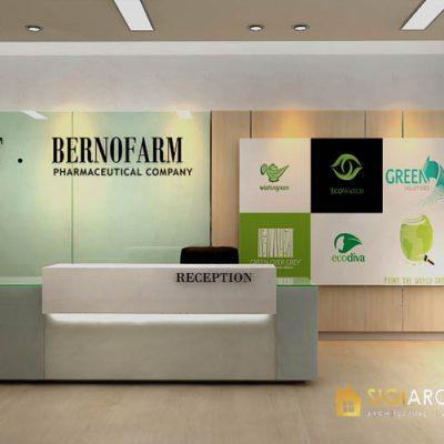 desain interior lobby kantor